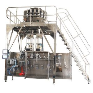 Horisontale Pre-made Packing Machine Met Multi Head Scales vir Granules