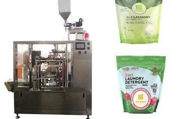 wasmiddel vloeistof roterende premade sak verpakking masjien