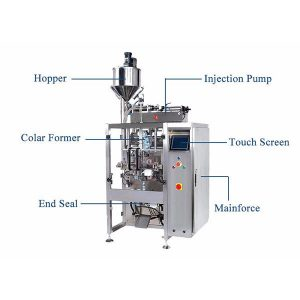 Vertikale vorm Vul Seal Machine Met Pistion Filler Vir Liquid